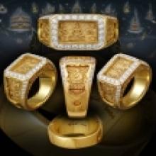แหวนหน้าพระพุทธ 2519 รุ่นแรก เนื้อโลหะสผม หลักสิบวงในโลก