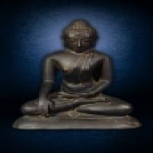พระพุทธรูปอินเดีย ศิลปะแบบปาละ เนื้อโลหะบรอนซ์ หล่อตัน ขนาด