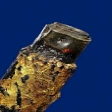 ล.พ ทองวัดก้อนแก้ว/ตะกรุดโทน  โค้ต ท 2 ตัว 1ใน2ดอก...