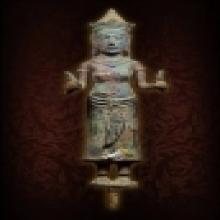 เทวรูปพระแม่อุมาศิลปแบบพลบุรี สูง 13 ซ.ม. สมบรูณ์ ไม่มีอุดไม