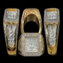 แหวนหน้าพระพุทธ 2522 เนื้อเงิน เลี่ยมทองฝังเพชร