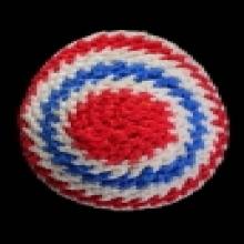 เบี้ยแก้ ถักลายธงชาติ หลวงปู่เจือ วัดกลางบางแก้ว