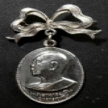 เหรียญหลวงปู่ฝั้น อาจาโร รุ่น51 ทองแดงกะไหล่เงิน วัดป่าอุดมส