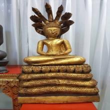พระพุทธรูปปางนาคปรกสมัยอยุธา(บ้านพูลหลวง) ขนาดหน้าตัก 9.5 นิ