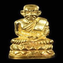 รูปหล่อหลวงปู่ทวดเนื้อทองคำ พิมพ์บัวรอบ ปี2541