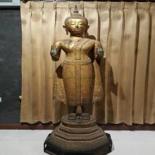 พระบูชาสมัยรัตนโกสินทร์ สูง175 ซ.ม. ยุคแรก(ร.3)รักทองเดิม ฐา