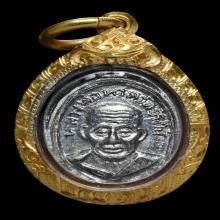 เหรียญเม็ดแตงหลวงพ่อทวด หน้าผาก 3 เส้น ปีกกา-หัวขีด