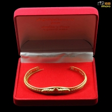 กำไลเรียกทรัพย์เนื้อทองคำพญานาคราชศรีสุทโธหมายเลข ๑๙