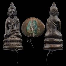 พระชัยวัฒน์พุทโธ เนื้อนวโลหะ ปี2524 หลวงปู่โต๊ะ