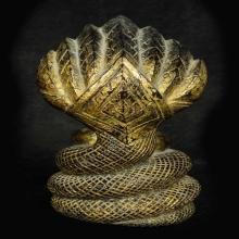 พระบูชาไม้แกะสมัยอยุธยา ปางนาคปรก