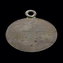 เหรียญยันต์บ่าพระพุทธโฆษาจารย์เจริญเนื้อเงิน#1 ปี2487
