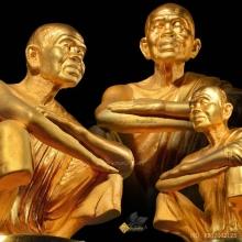 พระรูปเหมือนบูชาหลวงพ่อคูณ ปี 47 บรอนซ์หุ้มทองคำแท้ 99.99%