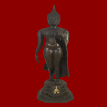 พระบูชา ปางลีลาสุโขทัย หลวงพ่อแพ วัดพิกุลทอง พ.ศ.2517 #02