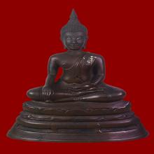 พระพุทธรูปบูชา หลวงพ่อโต วัดบางพลีใหญ่ใน พ.ศ.2509(เสาร์5)