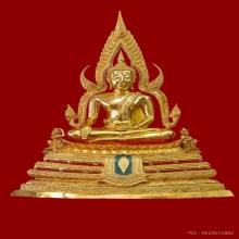 พระพุทธชินราชจำลอง วัดใหญ่ พิษณุโลก กะไหล่ทอง หน้าตัก ๙ นิ้ว