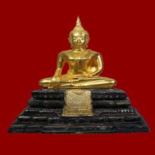 พระบูชา พระมงคลบพิตร บุเงิน บุทอง พ.ศ.2535 หน้าตัก 5นิ้ว