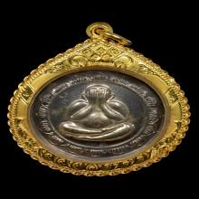 เหรียญพระปิดตาหลวงปู่โต๊ะกลมใหญ่เนื้อเงินปี2523