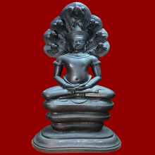 พระบูชานาคปรกอาจารย์นำ ภปร. วัดดอนศาลา ศิลปะนครวัต ปี30 (1)
