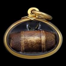 ๖๓๙๕ ตะโพน ลพ.พัก วัดโบสถ์ จ.อ่างทอง เนื้อเขากระทิง ๖๓๙๕