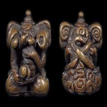 พระพิฆเนศ ดอกจัน เนื้อทองแดงเถื่อน จ.นครศรีธรรมราช