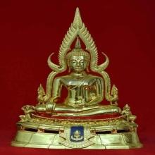 พระพุทธชินราชจำลอง รุ่นมาลาเบี่ยง 9.9 นิ้ว กะไหล่ทอง ปี2520