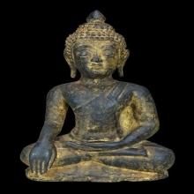 114พระพุทธรูปสมัยอยุธยา ศิลปะขนมต้ม หน้าตัก 6 นิ้วครึ่ง