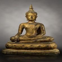 พระพุทธรูปเชียงแสนสิงห์สามหน้าตัก 10 นิ้วลงรักปิดทองเดิม