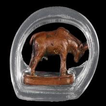วัวธนูรุ่นแรก เนื้อทองแดง หลวงพ่อแช่ม วัดดอนยายหอม