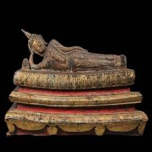พระพุทธรูปปางไสยาสน์ สมัยอยุธยา หน้าตัก 13 นิ้ว