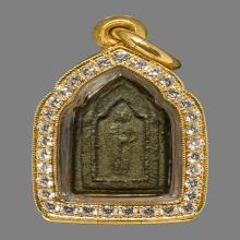 เหรียญหล่อวัดราชบพิตพิมพ์ห้าเหลี่ยมอุ้มบาตรปี2472