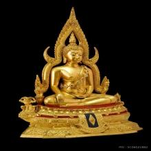 พระพุทธชินราชจำลอง รุ่นอกเลาบนผ้าทิพย์ หน้าตัก 5.9 นิ้ว