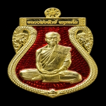 เหรียญเสมารุ่นแรก เนื้อทองคำลงยา หลวงพ่อจักษ์ วัดชุ้ง
