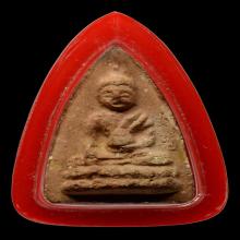 พระพุทโธน้อยพิมพ์กลางเกศบัวตูม เนื้อปูน ปี2494