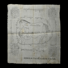 ผ้ายันต์ม้าเสพนาง ครูบาต๋า วัดบ้านเหล่า (พี่สมพร)