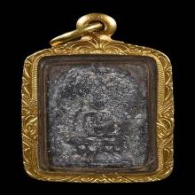 เหรียญหล่อประภามณฑล พิมพ์พระพุทธ  หลวงปู่ศุข วัดปากคลอง