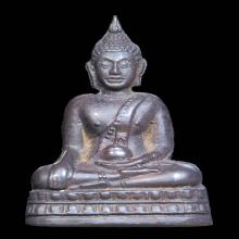 TY.พระกริ่งนเศวร พิมพ์พระพุทธอุ้มบาตร เนื้อนวะ ปี 2507