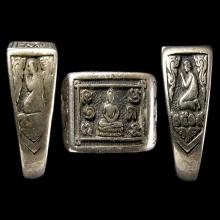 แหวนหน้าพระพุทธเนื้อเงินปี2519 หลวงปู่ดู่วัดสะแก