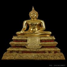 พระบูชาพิมพ์พระประธาน หลวงปู่โต๊ะ หน้าตัก 9นิ้ว กะไหล่ทอง
