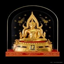 พระพุทธชินราชจำลอง รุ่นพานพระศรี ลงรักปิดทอง พ.ศ.๒๕๓๕ ๙ นิ้ว