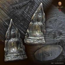 รูปหล่อชินราชอินโดจีน ปี 2485 พิมพ์สังฆาฏิสั้นหน้าเสาร์ห้า