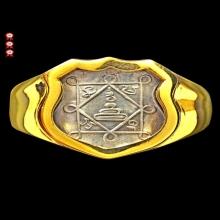 แหวนหน้าโล่ห์ปี๒๑ หลวงพ่อกวย วัดโฆสิตาราม จ.ชัยนาท