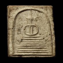 พระสมเด็จหลวงปู่ภู วัดอินทรฯ พิมพ์แปดชั้นแขนกลม เนื้อผง