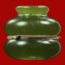 น้ำเต้าดูดทรัพย์ ลพ.สด วัดปากน้ำ รุ่นแรก สีเขียวหยก