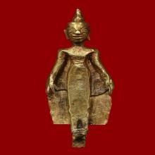 พระปางเปิดโลก เนื้อทองคำ กรุนาคามนครศรีธรรมราชพร้อมบัตร