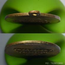 ครูบาศรีวิชัย หน้าแก่หลังยันต์น้ำเต้า ทองแดงกะไหล่ทอง ปี2478