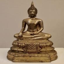 สมเด็จพระพุทธโคดม รุ่นแรก ผิวขัด หล่อดินไทย