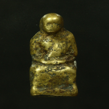 รูปหล่อโบราณ ล.พ.เขียน ฐานเต๋า