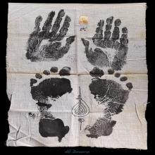ผ้าผ้ายันต์ รอยมือ-รอยเท้า หลวงพ่อคง วัดวังสรรพรส
