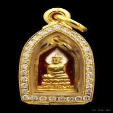 เหรียญพระไพรีพินาศ เนื้อทองคำ ลงยาปี 2495 รุ่นแรกนิยม