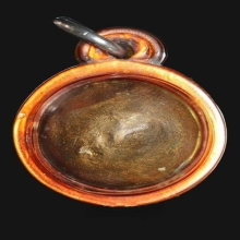 ลูกอมผงพรายกุมาร บรอนซ์น้ำมัน หลวงปู่ทิม วัดละหารไร่